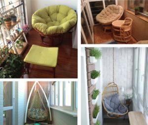Плетеные кресла для лоджии