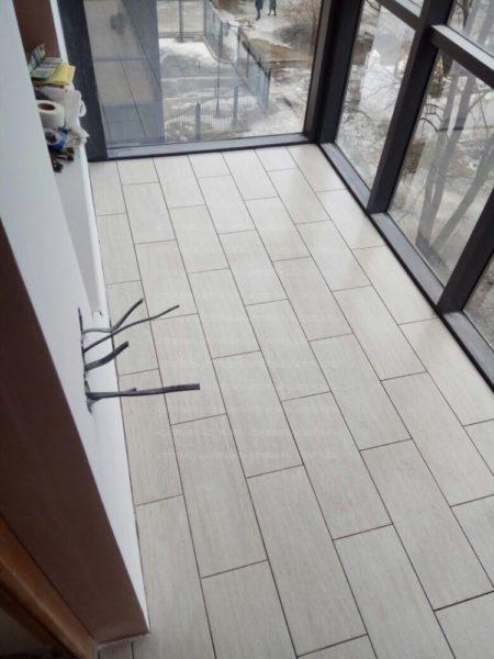 Пример напольного покрытия из керамической плитки