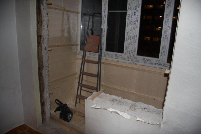 Присоединение лоджии, демонтаж балконной двери