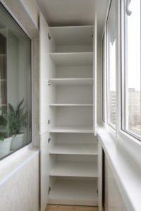 Расположение встроенного шкафа
