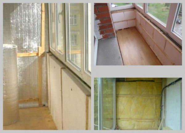 Примеры утепления балкона изнутри