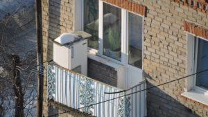 Ошибка установки холодильного агрегата на открытом балконе