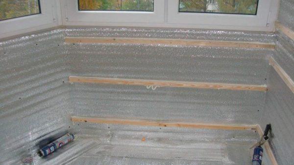 Укладка изолирующего слоя