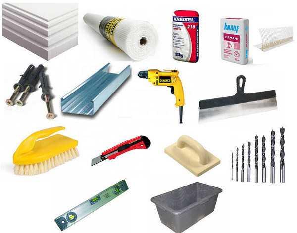 Инструменты и материалы для утепления лоджии снаружи