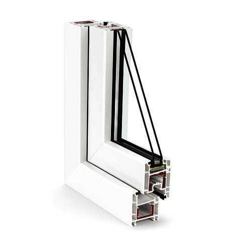 Армирующий профиль является стальным элементом усиления для придания дополнительной жёсткости, прочности и устойчивости оконной конструкции.