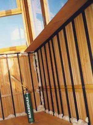 Заделка щелей в конструкциях балкона.