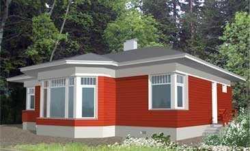 Дом с угловыми окнами