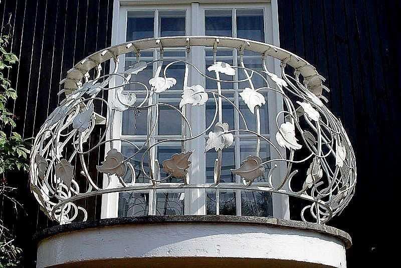 Полукруглая форма балкона