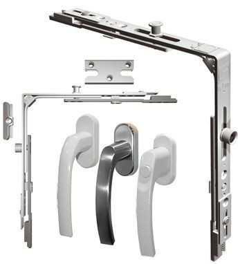 Фурнитура для окон – важный элемент оконной конструкции, с помощью которого осуществляется открывание и закрывание створок.